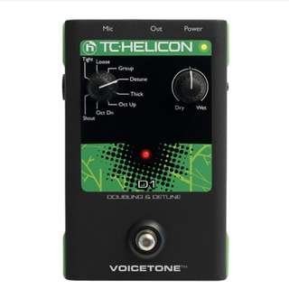 TC-Helicon VoiceTone D1 Doubling and Detune Vocal Effects Pedal