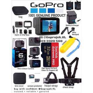 GOPRO HERO 6 BLACK - COMPLETE PACKAGE