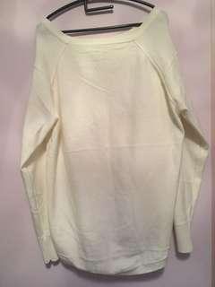 白色長毛衣