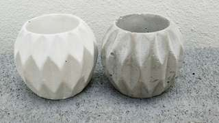 Mini Round Designed Plabter Pot