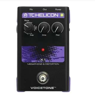 TC-Helicon VoiceTone X1 Megaphone and Distortion Vocals Effects Pedal