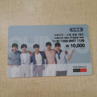 Shinee Shilla Duty Free 儲值卡