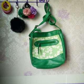 Avon Green Floral Bag