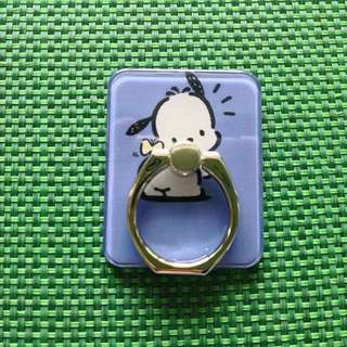 Sanrio PC 狗 Pochacco 紫籃色 Ring Holder 支架 介子手機座 可遁還再用 包平郵
