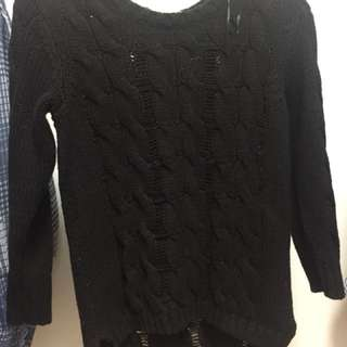 H&M black knit sweater pull over