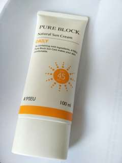 Apieu natural sun cream daily korean