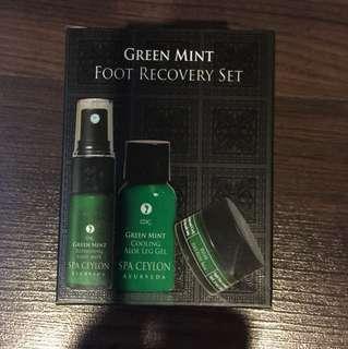 Spa Ceylon Ayurveda Green Mint Foot Recovery Set