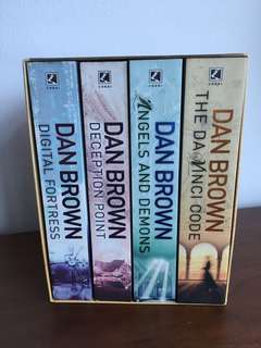 Dan brown set of four books