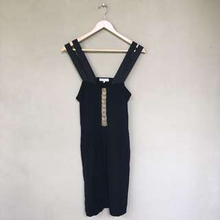 Sandro Mini Black Dress