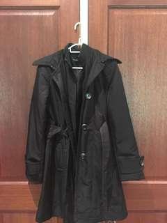 Black trench coat jacket