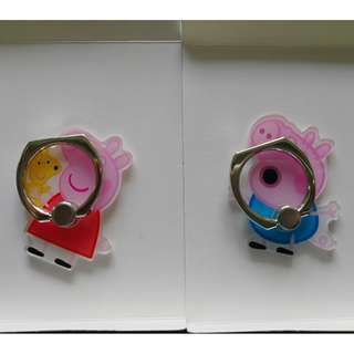 Peppa Pig  Ring Holder 支架 介子手機座 可遁還再用 包平郵 $18 1個 , 1對$34