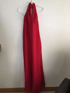 Long gown used once
