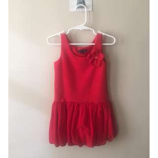 PERIWINKLE Red Dress for 3Y