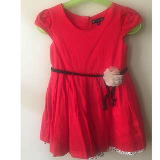 RED PERIWINKLE DRESS size 3Y