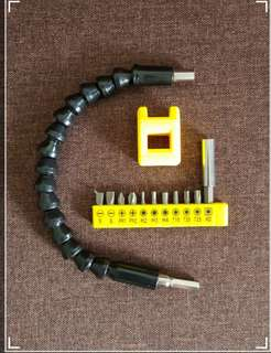 New 295mm Flexible Shaft Extension Screwdriver Drill Bits Holder Connecting Link With 11 Pieces of Accessories