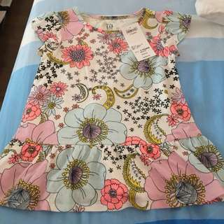 BNWT GAP floral tunic (3 Years)