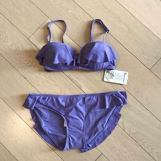 包平郵:全新紫色泳衣