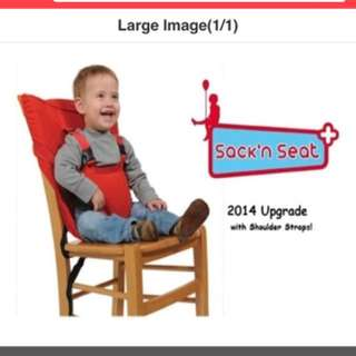 [Portable Baby Seat] Sack n Seat Portable High Chair / Travel High Chair / Baby feeding chair
