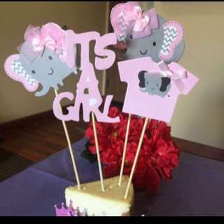 Its a boy / girl cake topper & photo prop