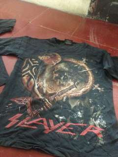 T-Shirt Band Metal Slayer n Metallica Size M fit To L