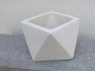 Medium Size Geometric Homemade Planter Pot