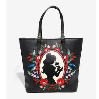 for PRE-ORDER! Loungefly x Disney Beauty And The Beast Belle Embroidered Tote