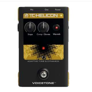 TC-Helicon VoiceTone T1 Adaptive Tone Vocal Effects Pedal