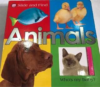 Slide And Find Children Animal Book