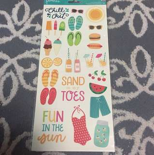 Pebbles beach theme stickers