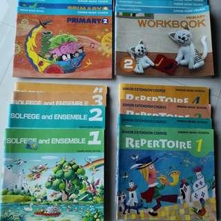 Yamaha textbooks and workbooks
