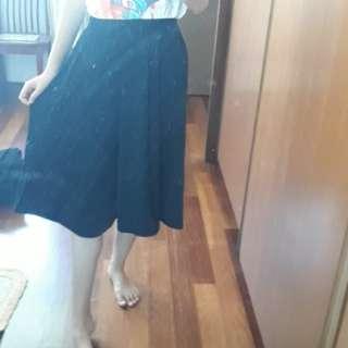 Wide Black Culottes  #20under