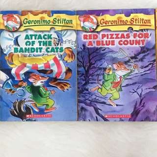 GERONIMO STILTON BOOKS (150 EACH)