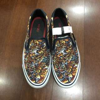 KENZO Velvet Printed Canvas Flying Tiger 100% Authentic