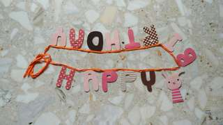 """""""Happy Birthday"""" Banner (Cloth Material)"""