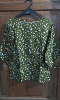 Baju wanita motif model batwing