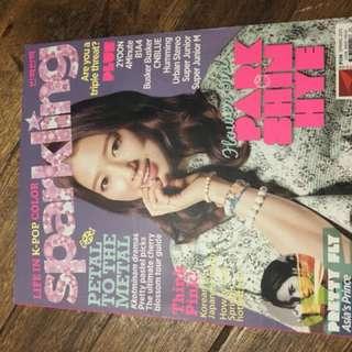 Sparkling Magazine (2PM and Park Shin Hye)