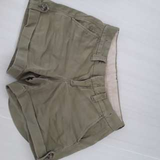 Stretch OOR Army Green/Khaki Shorts