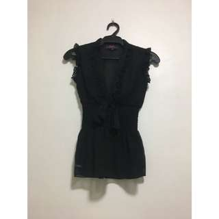 Preloved Candies Black Sleeveless Top in Size XS