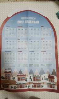 The face shop 2017 calendar