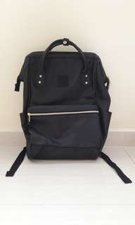 Anello Black Leather Bag Pack