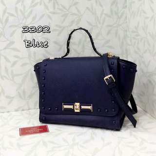 Valentino Trapeze Bag Navy Blue