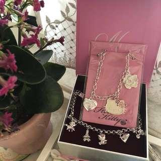 🚚 Sanrio正品925純銀手鍊&歐洲版Hello Kitty項鍊