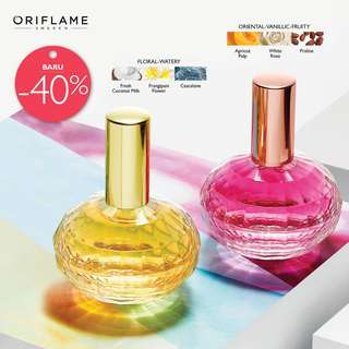 Flirting under fireworks Parfume EDT (pink) atau Memories DayDreaming in a hammoch EDT (kuning)