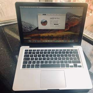 "MacBook Pro 13"" June 2012 model: A1278"