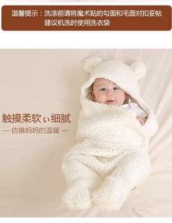 新生秋冬加厚 BB襁褓包巾羊羔絨睡袋