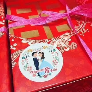 Wedding Sticker Design