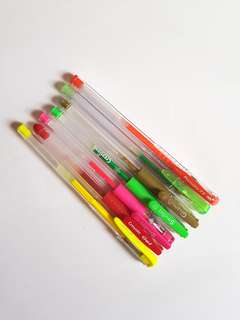 Used Various Coloured Gel Pens