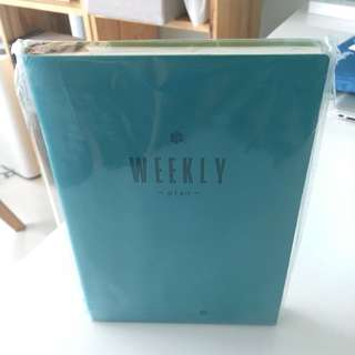 Brand New A5 Weekly Planner In Turquoise Blue Notebook