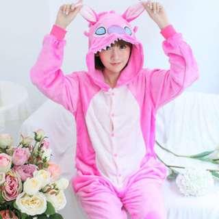 Pink Stitch Adult Onesie
