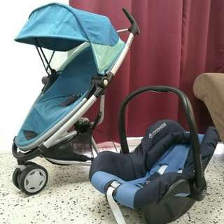 BLUE QUINNY ZAPP 1.0 + INFANT CAR SEAT MAXI COSI CITI (FREE ADAPTER ❗❗)